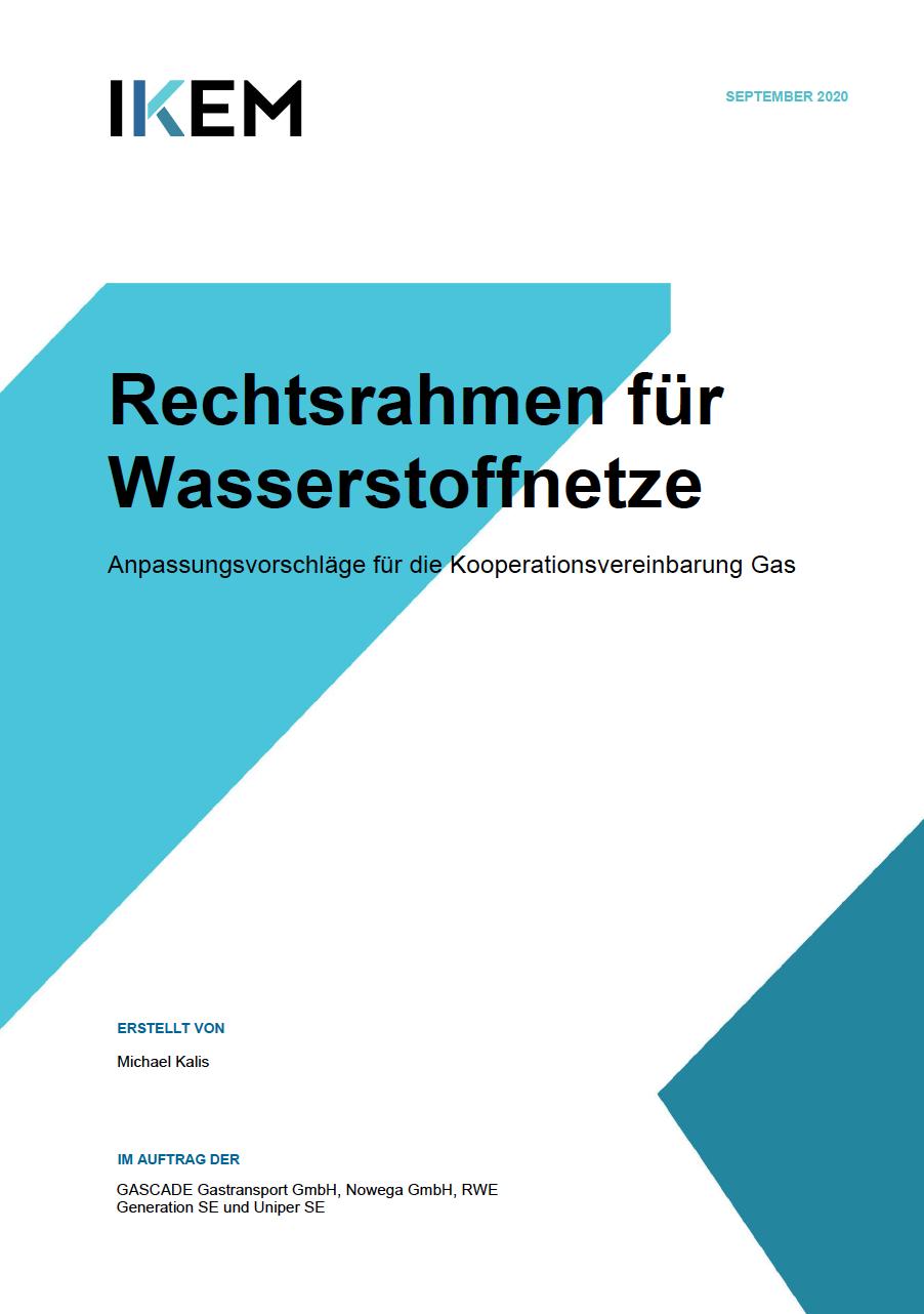 Gutachten IKEM Anpassung Kooperationsvereinbarung Gas für Wasserstoffnetze;
